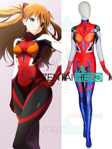 Envío Gratis 3D impreso Asuka nuevo 3,0 Evangelion Cosplay traje EVA Asuka Langley Soryu Shikinami Plugsuit traje de superhéroe