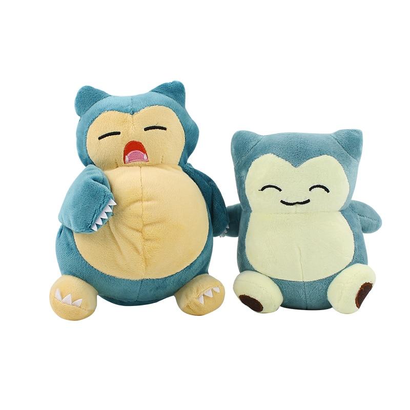 2 estilos 15-20cm Anime juego Peluche de Snorlax juguete Kabigon Animal relleno muñecos suaves de juguete