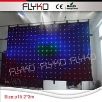 led stage backdrop led video curtain in tv show disco light p15cm 2x3m