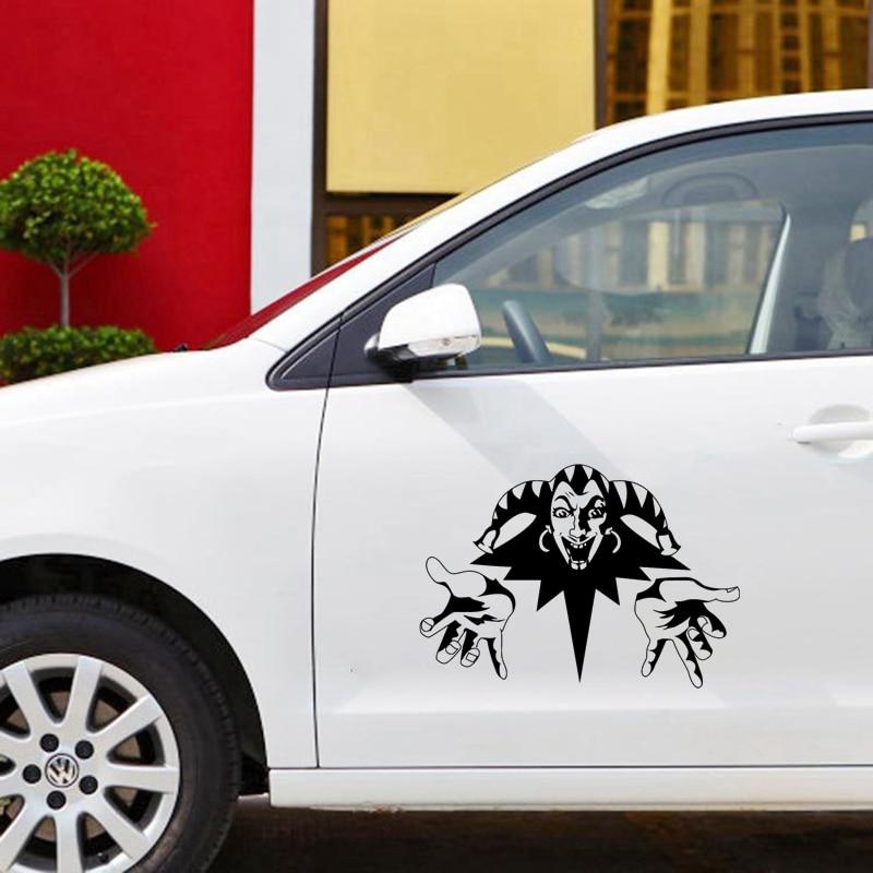 CS-922 #43*30cm rey y bufón coche pegatina vinilo Etiqueta de plata/negro para auto pegatinas estilo decoración del coche