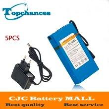 5X batterie Lithium-ion Portable Super Rechargeable de haute qualité DC 12 V 9800 mAh DC1298A avec prise