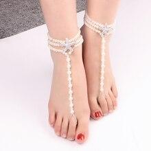 Kralen Shell Enkelbanden Voor Vrouwen Meisjes Sexy Rvs Vintage Multi Layer Been Armband Bohemian Strand Ankle Chain
