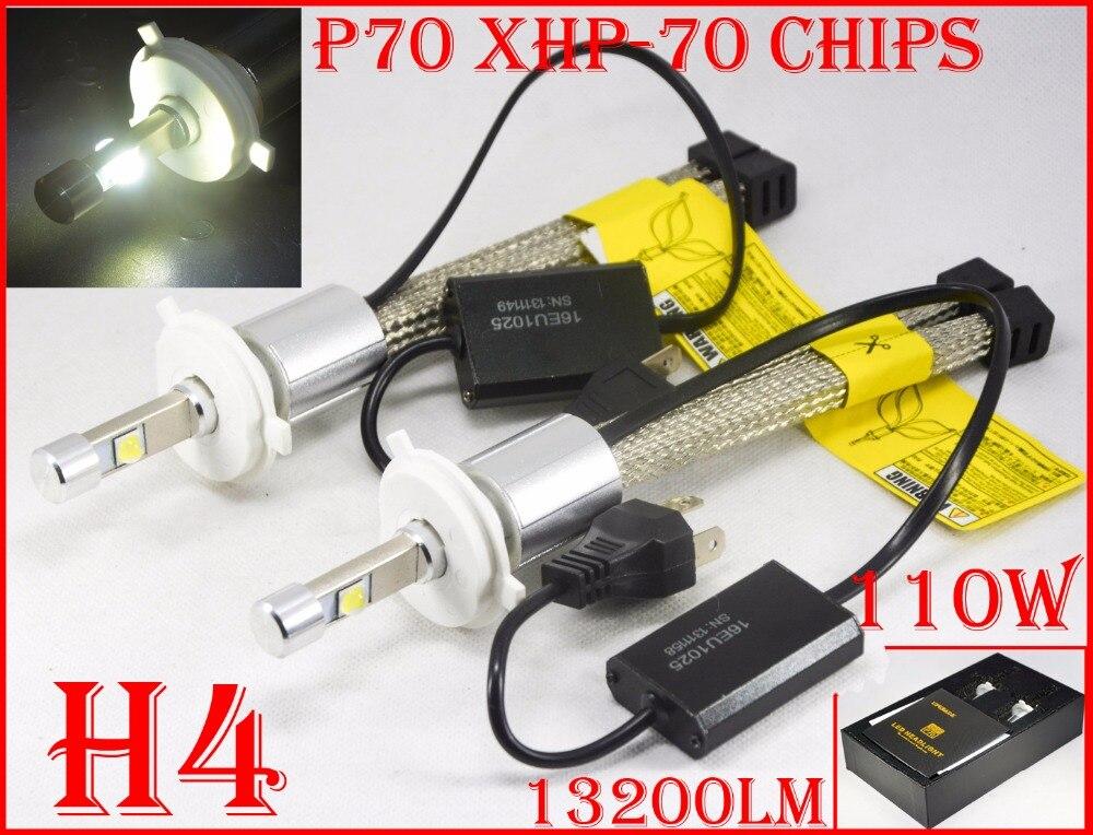 Novo 1 Conjunto P70 Cre 110 W 13200LM LEVOU Conversão Farol H4 Kit XHP-70 Driving Nevoeiro Lâmpada H7 H8 H9 H11 H16 (JP) 9005 9006 9012
