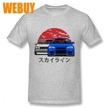 Car t shirt Round Neck Nissan Skyline GTR Leisure Tee Shirt For Male Webuy Short Sleeve 3D Print Tees