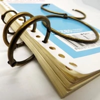 eco friendly 10pcs curtain ring card collection binder ring bronze cirecle hanging ring wholesale multipurpose ring