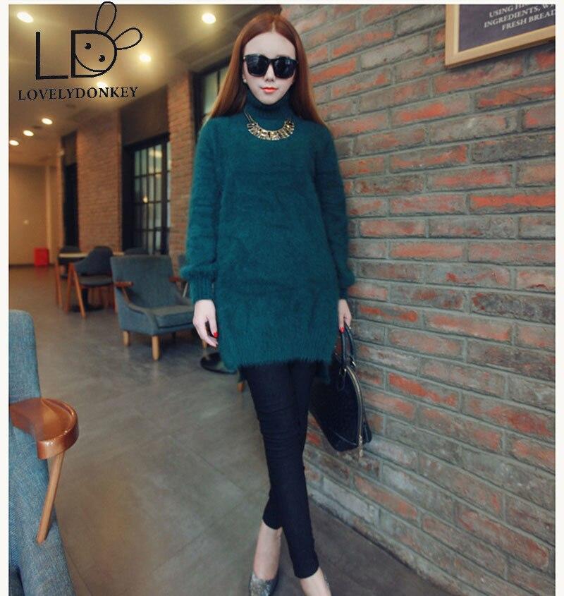 LOVELYDONKEYgenuine de visón de Cachemira suéter de las mujeres pullovers de punto, jupmer personalizado color shippingM704