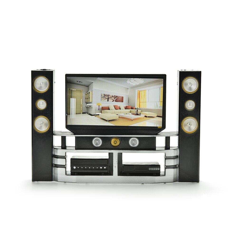 TOYZHIJIA Mini Hi-Fi 16 TV Home Theater gabinete SetCombo para muñeca ropa vestido accesorio casa muebles bebé juguetes