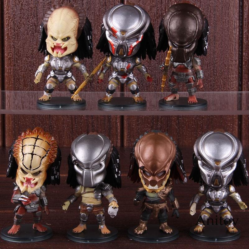 Figura de cazador de la ciudad, depredador, depredador, Alien versión Q, figura de acción de PVC, juguete de modelos coleccionables 7 unids/set