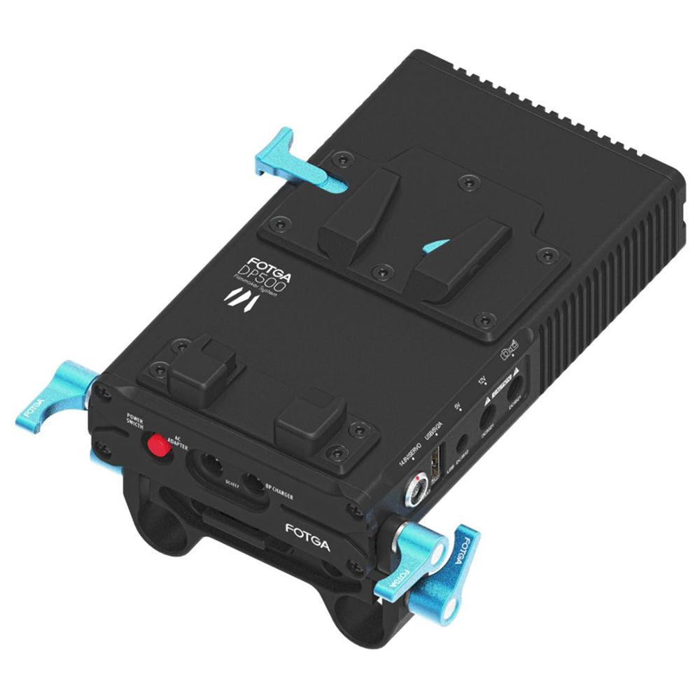 FOTGA DP500III V-Mount Ononderbroken Ingebouwde 90 Graden rod clamp Voeding BP Batterij Plaat Lock DSLR Rig Camcorders