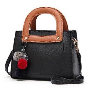 Hair ball ornaments Vintage Female Top-handle Bags Rivet Larger Women Bags Hair Ball Shoulder Bag Motorcycle Messenger Bag-45