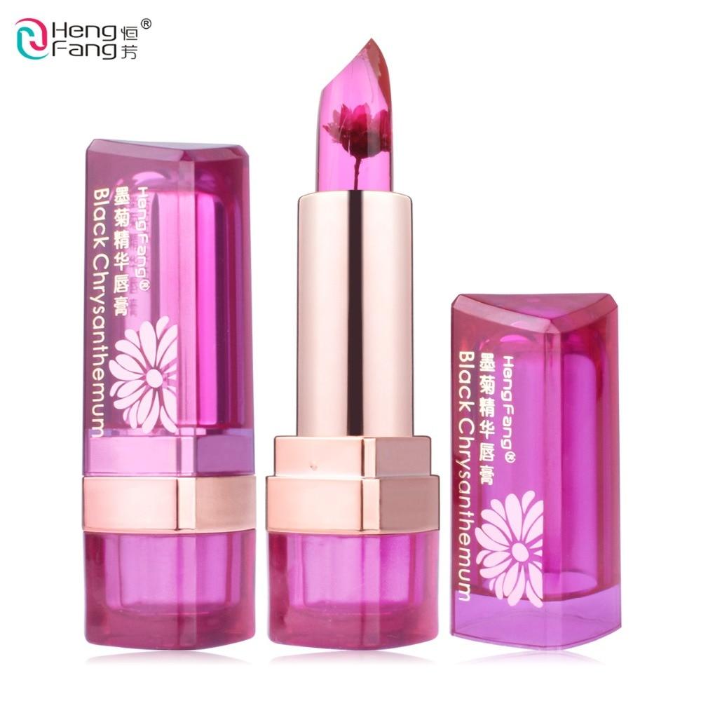 Bálsamo labial con cambio de temperatura 7 colores bálsamo labial nutritivo para labios 3,5g marca de maquillaje HengFang # H9223-H9266