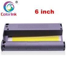Cartouche dencre ColorInk et ensemble de papier pour imprimante Photo série Canon Selphy CP CP800 CP810 CP820 CP900 CP910 CP1200 CP1300 CP1000