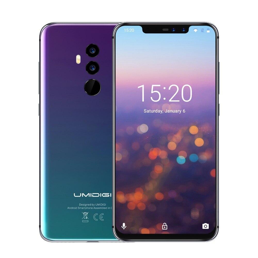 UMIDIGI Z2 6 ГБ, 4 Гб RAM, 64 ГБ ROM, Helio P23 смартфон MT6763 Octa Core 16MP четыре камеры 4 аппарат не привязан к оператору сотовой связи 6,2 дюйм Android 8,1 мобильный телефон