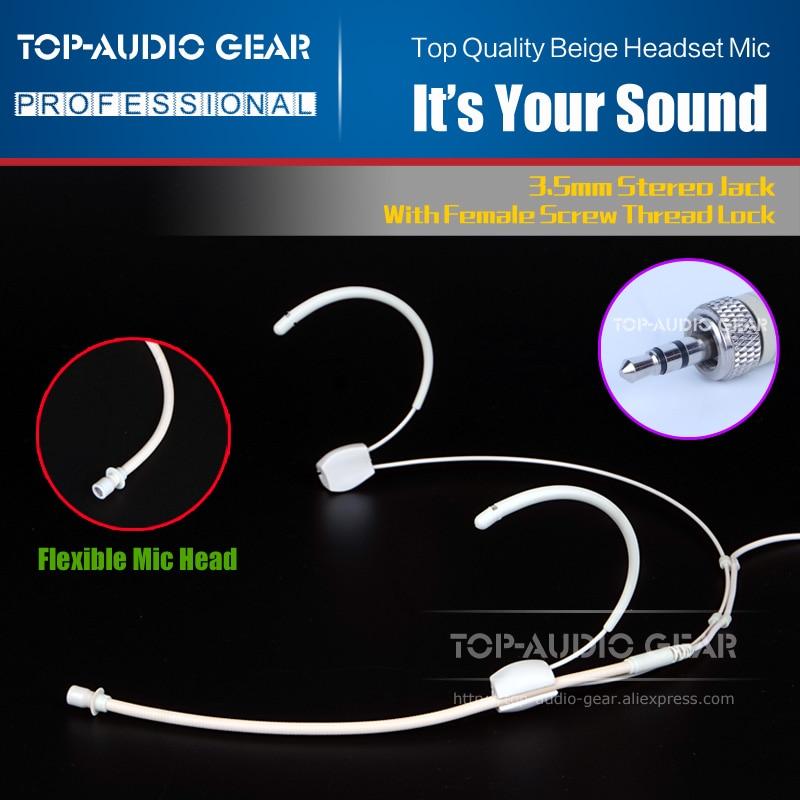 Carne auriculares de diadema con gancho de micrófono para SENNHEISER los EW 100, 152, 112, 122, 322, 352, 172 G1 G2 G3 sistema con micrófono inalámbrico receptor