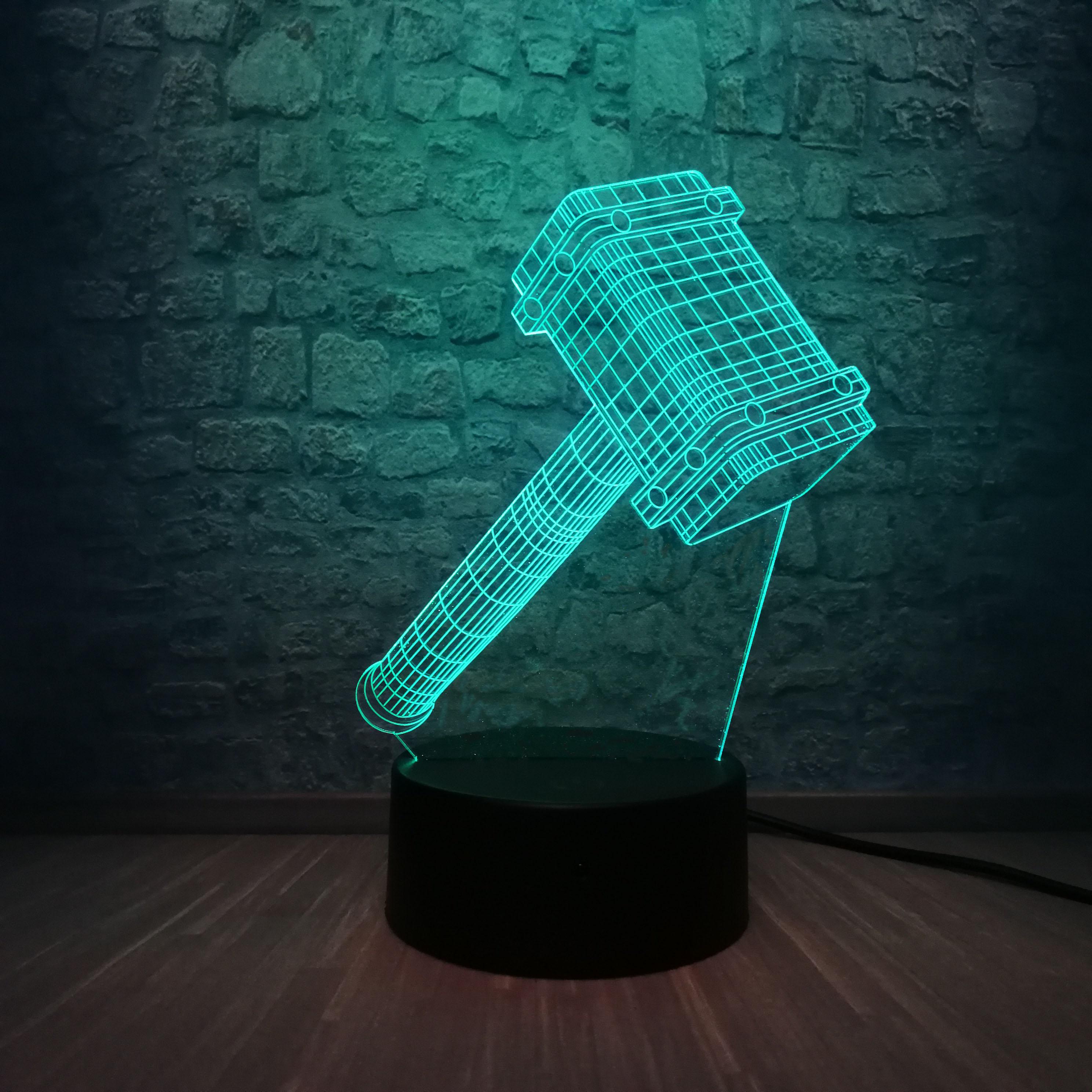 Thor Los vengadores de Marvel lámpara LED 3D, lámpara para dormir en el dormitorio, luz de noche, iluminación RGB, superhéroe Multicolor, regalo de Navidad para niños, juguetes para niños