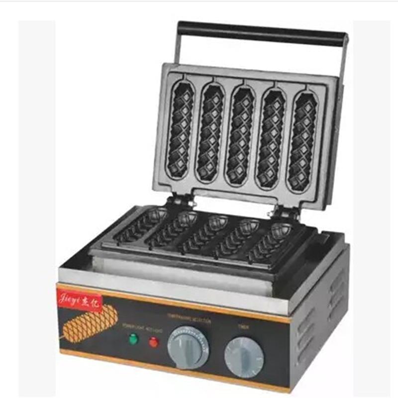 110V 220V 1500W eléctrica comercial Lolly Waffle Maker salchicha Muffin máquina de gofres de la piel de helado Macker