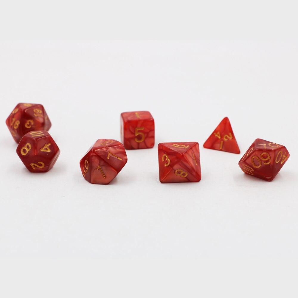 7 шт./компл. креативные игральные кости для ролевых игр D & разноцветные DND с