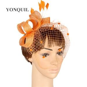 Enchanting Black Sinamay Material Wedding Kentucky Fascinator Headpiece Cocktail Headwear Race Hat Suit For All Season MYQ006