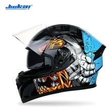 Мотоциклетный шлем для мужчин, шлем на все лицо, с двойным козырьком