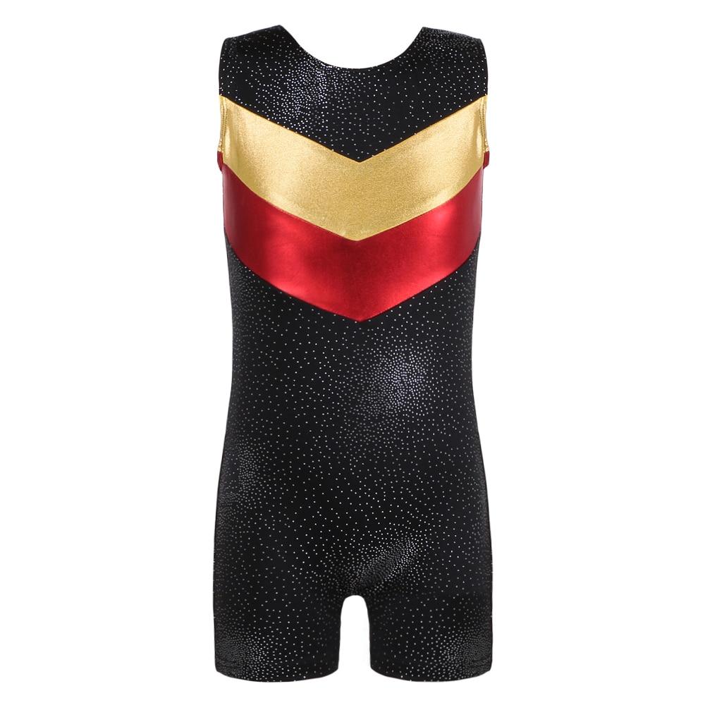 3-10Y Girls Dance Wear Sleeveless Gymnastics Leotard Dancesuit Tutu Dancewear Performance Practice Dance Clothing