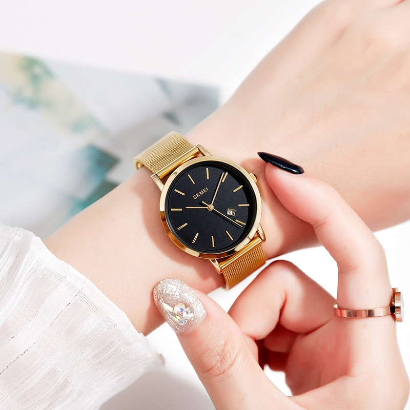2020 SKMEI Simple Ladies Wristwatches Steel Strap Women Watches Ladies Watch Female Quartz Watches Montre Femme 1530 Clock enlarge