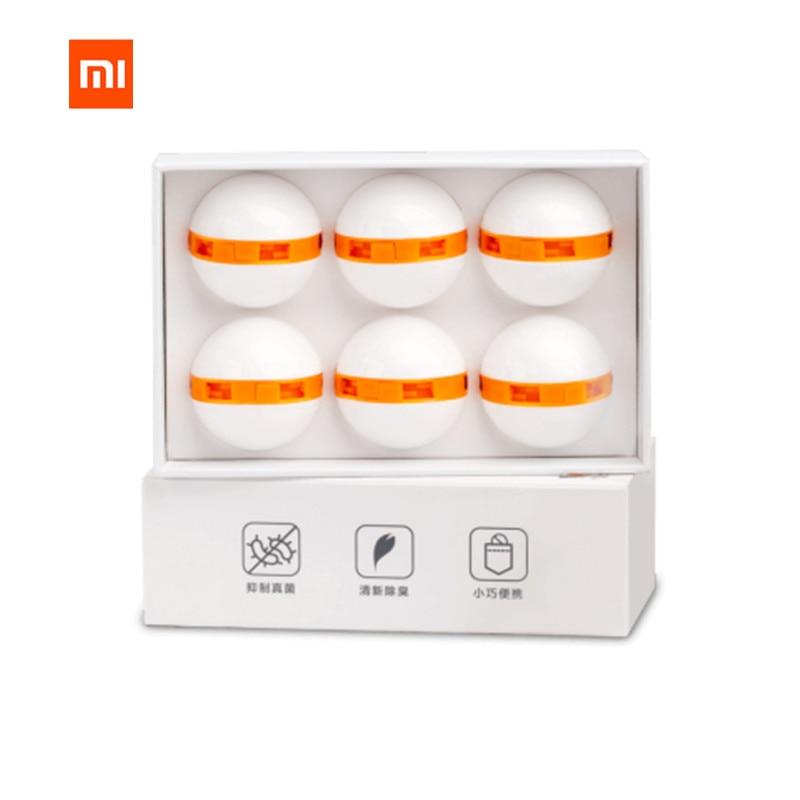 Original Xiaomi 6pcs mijia Clean-n-Fresh Deodorant Shoe Balls Cleaner Rotary Switch Inhibit Fungus Deodorant