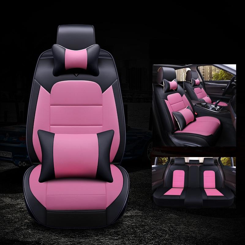 Kalaisike, fundas universales de cuero para asientos de automóviles para Chery, todos los modelos X1 A1/ 3/5, Cowin Fulwin Riich E3 E5 Q3 6 V5 Tiggo, estilismo para automóviles