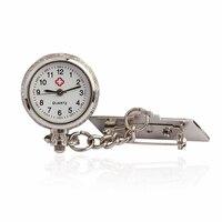 Unisex Arabic Metal Fibula Nurse White Dial Quartz Pocket Nurse Watch montre femme zegarek damski reloj mujer relogio feminino
