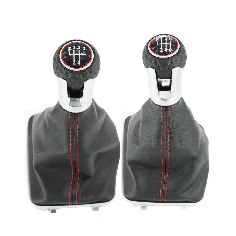 5/6 скоростная ручка переключения передач для автомобиля с кожаными ботинками для VW Golf 7 A7 MK7 для GTI GTD 2013 2014 2015 2016 2017 2018