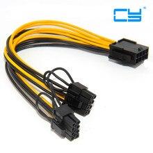 Offre spéciale lot CPU 8pin femelle à double PCI-E PCI Express 8p (6 + 2 broches) câble dalimentation mâle 18AWG fil pour carte graphique pour BTC