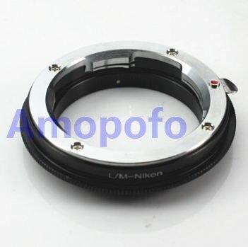 AMOPOFO Leica M LM L/M lente para Nikon F adaptador de montaje D7100 D750 D810 D610