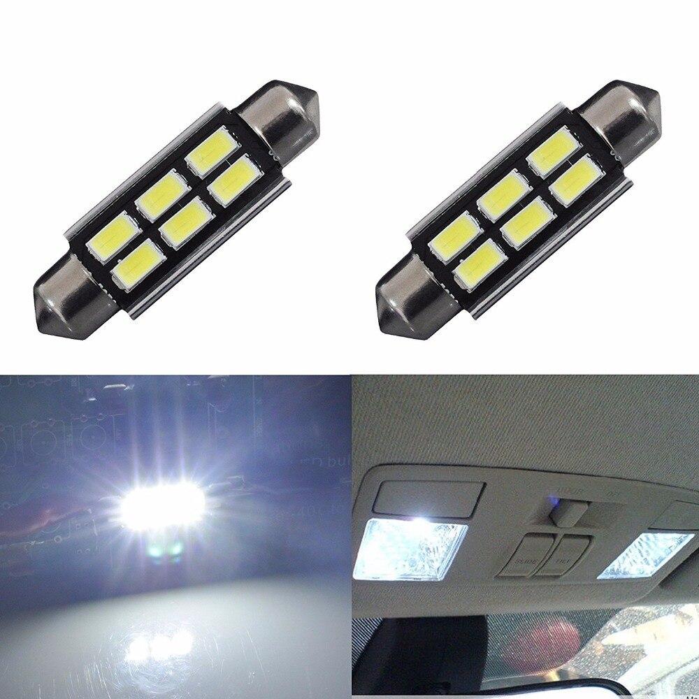 AGLINT 2PCS C5W  Canbus Festoon 41mm Automotive White 6000k LED Interior Dome Bulb 5730SMD 6LEDs Aut