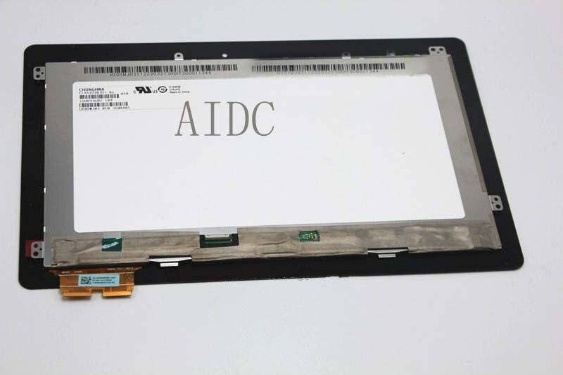 Usado, para asus t100ha t100h digitador da tela de toque com peças de reposição do conjunto completo do lcd, 100% testado bom!