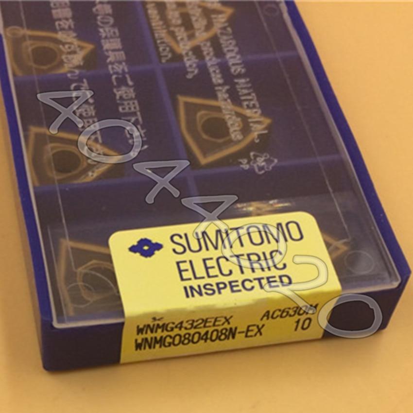 WNMG080408N-EX AC630M 10 قطعة/صندوق سوميتومو جديد الأصلي شفرة من الكربيد