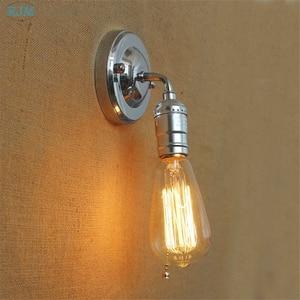 Modern Retro Silver Iron Wall Lamps Vintage Loft Adjustable Industrial Metal Wall Lights for Sconce Restaurant Bedroom Lightings