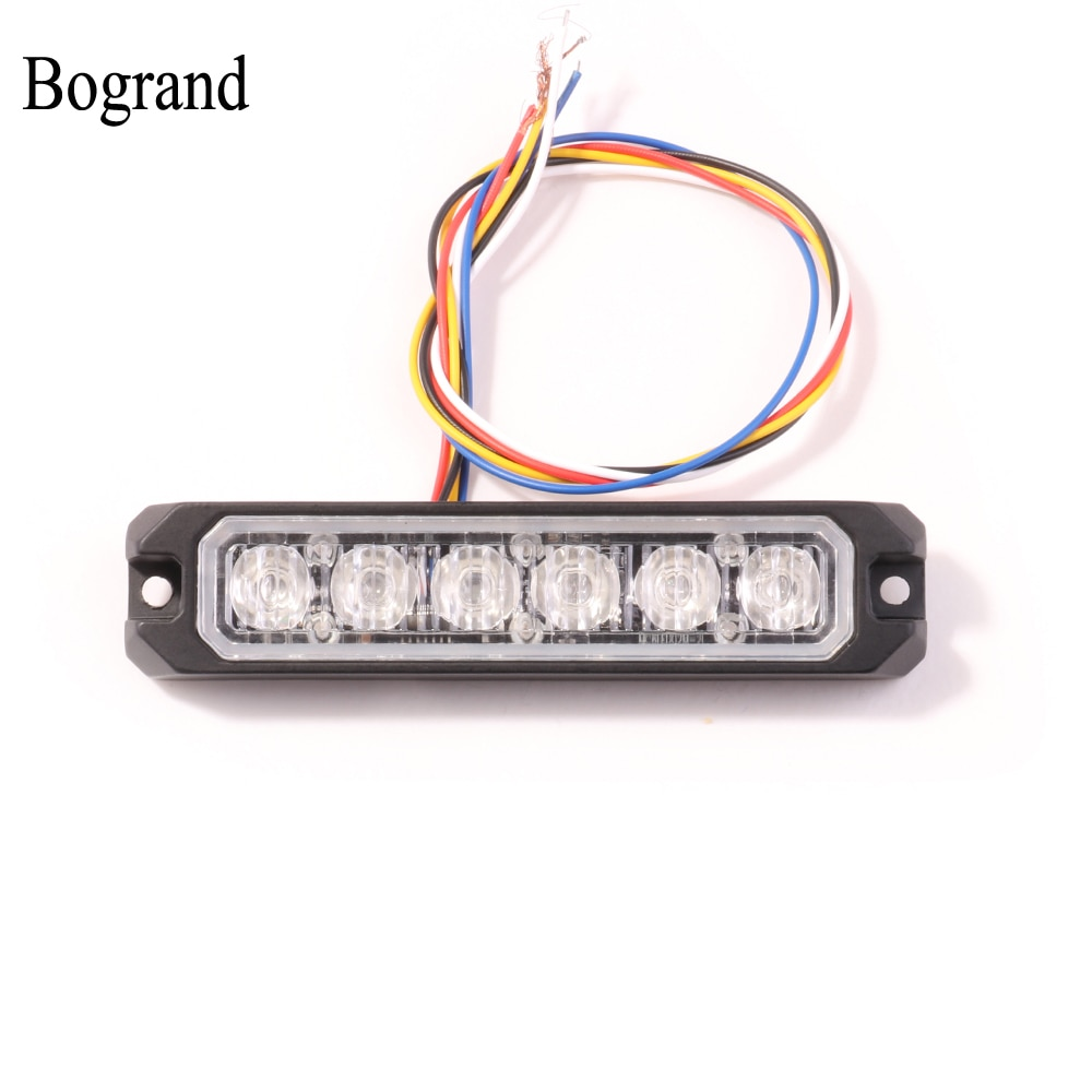Bogrand Synchronization Function Emergency Vehicle Truck LED Grille Light Head Surface Mount Strobe