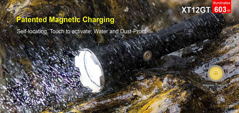 1Set KLARUS XT12GT 1600 Lumens LED Flashlight  CREE LED XHP35 HI D4 Waterproof Tactical Flashlight with18650 Battery RTS1 FT12 enlarge