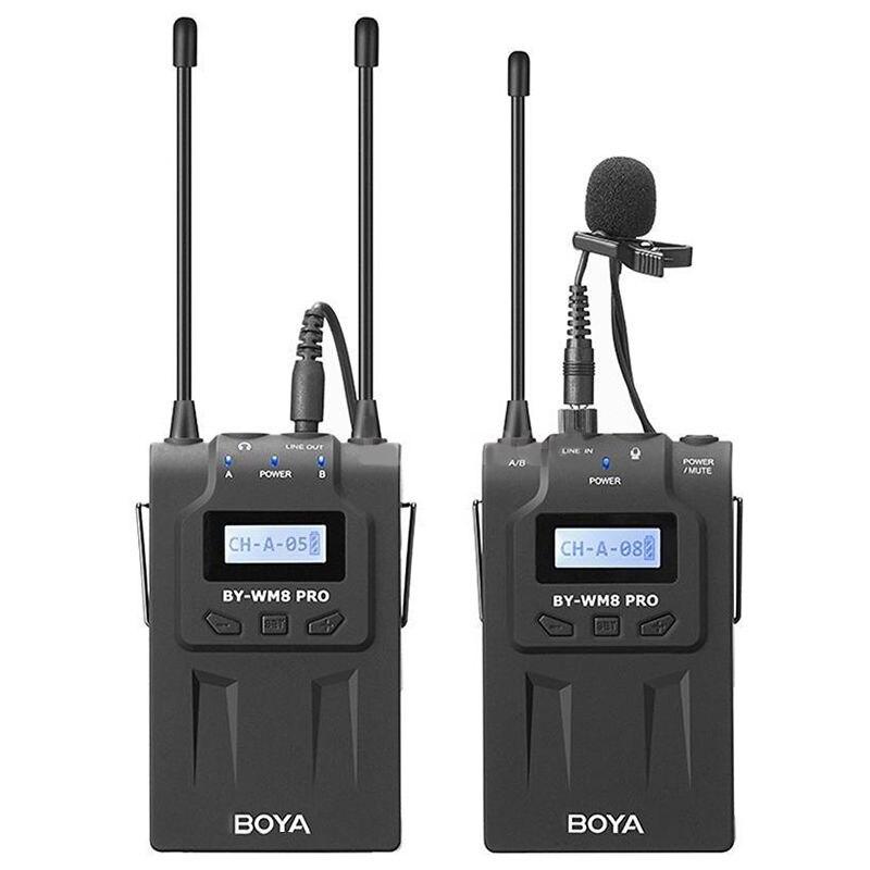 BOYABY-WM8  Pro-K1 Uhf Wireless Lavalier Microphone Kit For Eng Efp Dslr Camera  wireless microphone professional