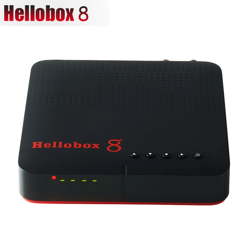 Neue Hellobox 8 empfänger satellite DVB-T2 DVB S2 Combo TV Box Tuner Unterstützung TV Spielen Auf Telefon Satellite TV Empfänger unterstützung CCCAM