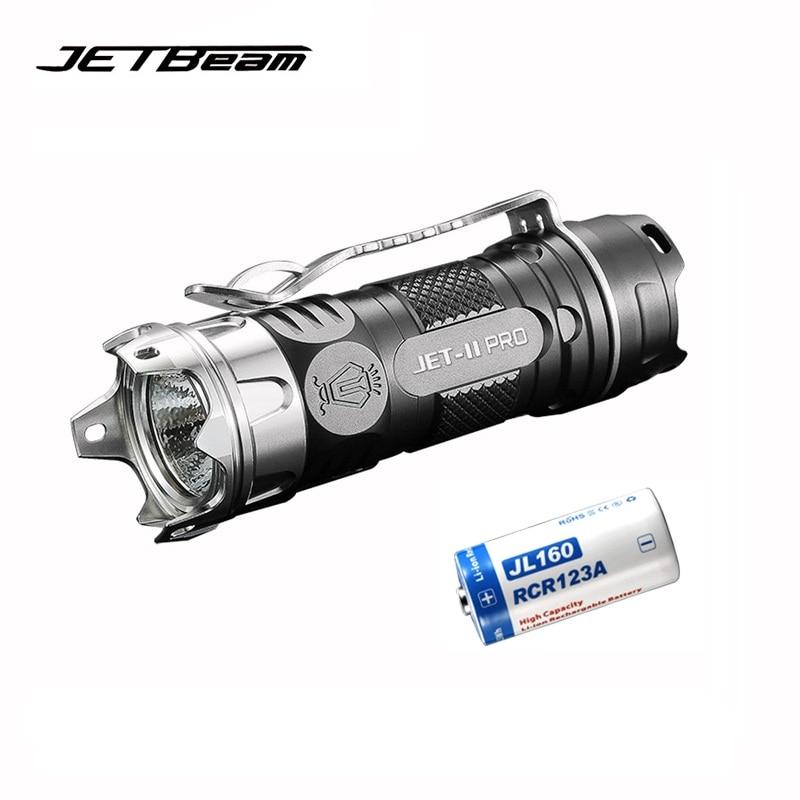 Оригинальный JETBEAM II PRO мини светодиодный фонарик CREE XP-L HI LED 510 люмен портативный фонарик с батареей 1*16340
