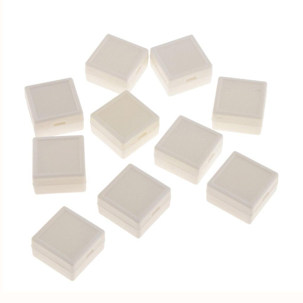 10 pièces en plastique 3x3cm carré anneau boîte de rangement boîtier détaillant boutique Simple bijoux affichage