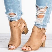 Femme sandales chaussures 2019 été mode Style compensées pompes talons hauts boucle sangle gladiateur femmes solide grande taille 34-43