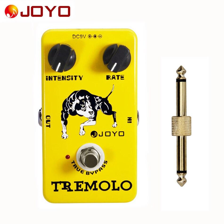 JOYO تأثير الغيتار دواسة Tremolo ، باس الكهربائية تأثيرات الضغط الديناميكي