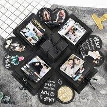 Coffret en forme dalbum photo   Boîte à orgues créative, coffret cadeau romantique de mariage pour la saint-valentin