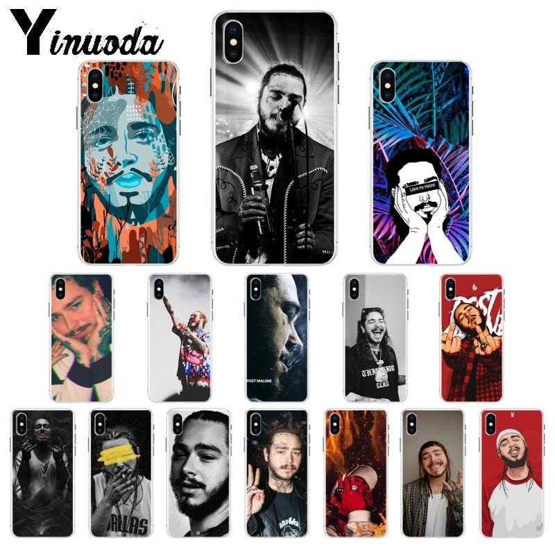 Yinuoda Hip Hop Post Malone suave de TPU de alta calidad cubierta del teléfono para Apple iPhone 7 6 6S Plus X XS X MAX 5 5S SE XR móvil
