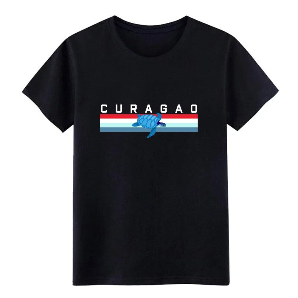 Camiseta de diseño retro curacao para hombres, camiseta de primavera única Crazy transpirable con S-3xl de algodón