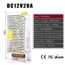 AC100V-240V à DC 12V20A 240 w tension transformateur interrupteur alimentation pour LED bande LED contrôle LED interrupteur LED affichage