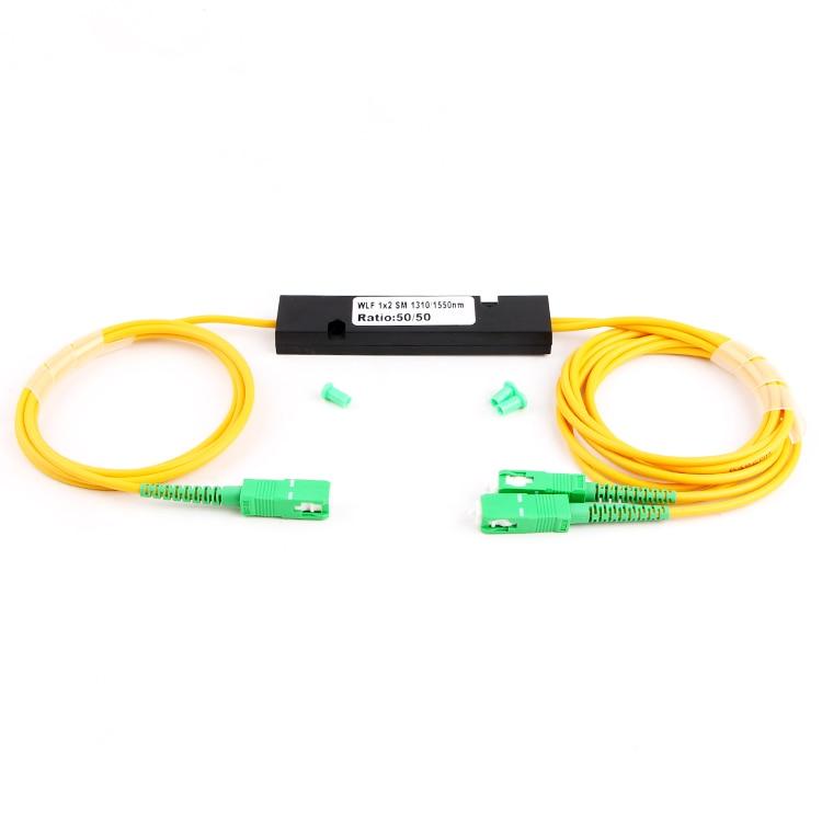 SCAPC fibra óptica monomodo FTTH 1x2 FTB divisor de fibra FBT acoplador 1310/1550nm doble ventana 50/50 relación