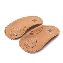 3/4 demi semelles orthopédiques soutien de la voûte plantaire amortissement pied plat protection x-leg Correction hommes femmes chaussures coussinets en peau de vache Inserts de chaussures