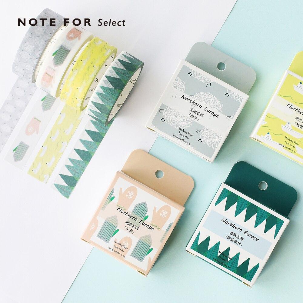 Fita adesiva lavagem para tema vida nórdica, faça você mesmo, para scrapbooking, etiquetas, artesanato